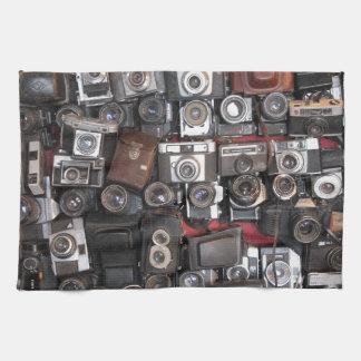Old cameras towel