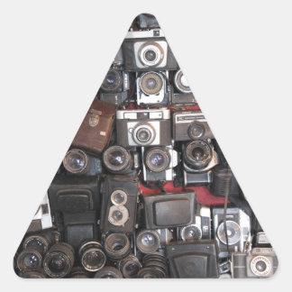 Old cameras triangle sticker