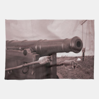 old canon and rods sepia civil fort kitchen towel