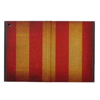 Old canvas deck chair pattern iPad air case