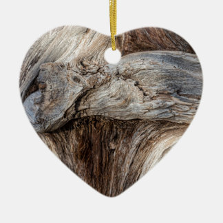 Old Canyon Tree Texture Ceramic Ornament