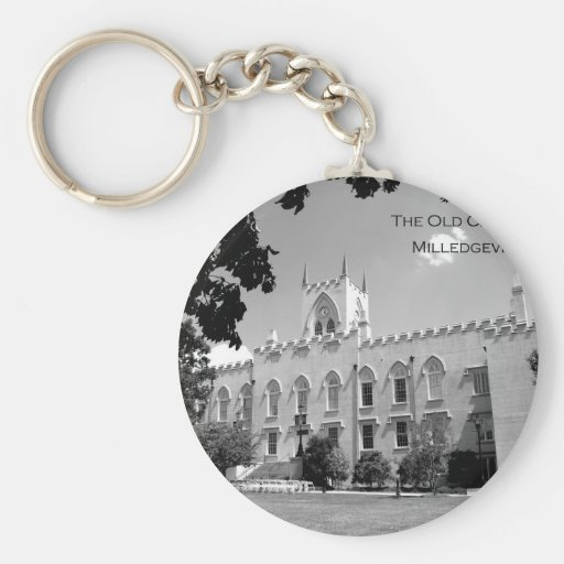 Old Capitol Building - Milledgeville, Georgia Basic Round Button Keychain