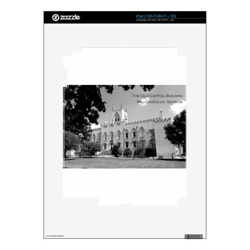 Old Capitol Building - Milledgeville, Georgia iPad 2 Skin