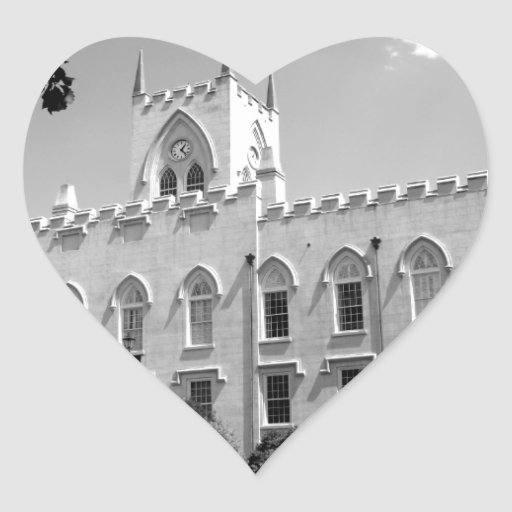 Old Capitol Building - Milledgeville, Georgia Heart Stickers