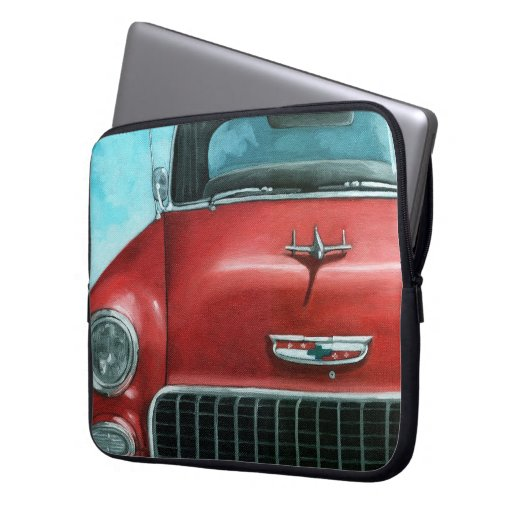 Old Car '55 Chevy auto vintage car Computer Sleeves