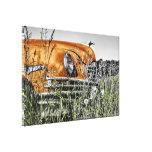 Old Car Art 1 Wrapped Canvas Stretched Canvas Print