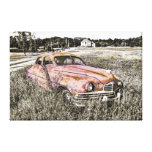 Old Car Art 3 Wrapped Canvas Stretched Canvas Print