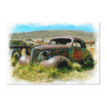 Old Car Art 6 Wrapped Canvas Canvas Print