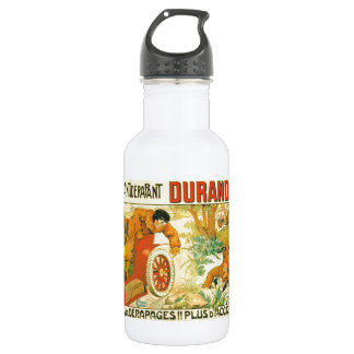 Old car automobile Durandal French advert Water Bottle