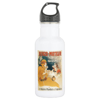 Old car automobile French advertisement Water Bottle