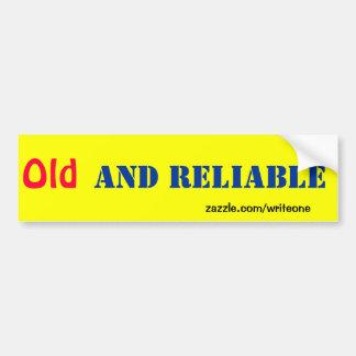 Old car bumper sticker bumper stickers