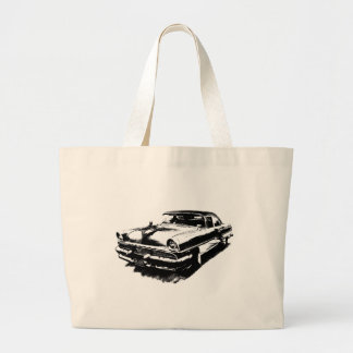 Old car cars rare vintage mustang large tote bag
