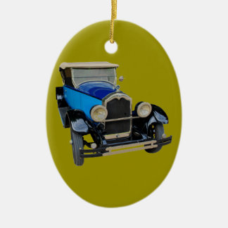 Old car ceramic ornament