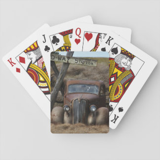 Old car deck of cards