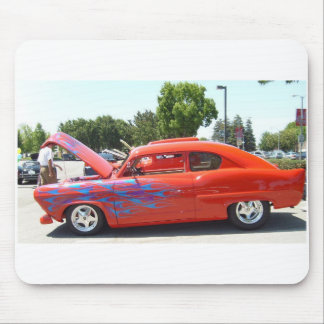 Old car fixed up appears in carshow, on a mousepad