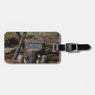Old car luggage tag
