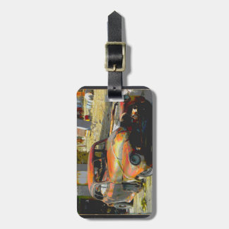 Old Car Luggage Tag Stand out in the Crowd