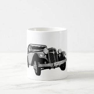 Old car classic white coffee mug