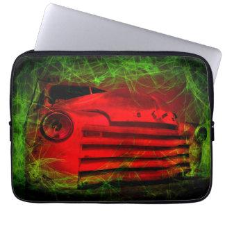 Old car on the dark path laptop sleeve