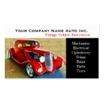 Old Car Repair Shop - Restorations Double-Sided Standard Business Cards (Pack Of 100)