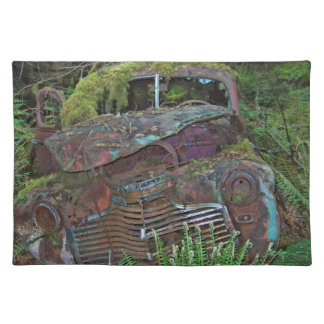 Old Car Wreck in the Forest Photo Placemat