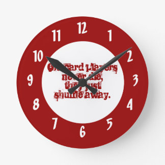 Old Card Players- Humor Quote Wallclocks