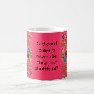 old card players never die coffee mug