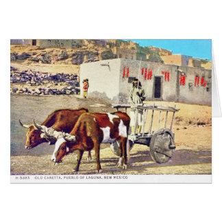 Old Caretta, Pueblo of Laguna, New Mexico Card