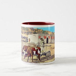 Old Caretta, Pueblo of Laguna, New Mexico Two-Tone Coffee Mug