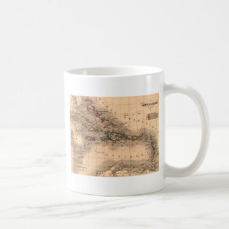 Old Caribbean Map Dive Shirt Coffee Mug