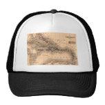 Old Caribbean Map Dive Shirt Hats