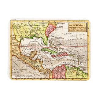 Old Caribbean Map Magnet