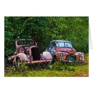 Old Cars Birthday Card
