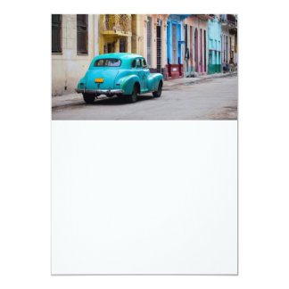 Old cars on the Havana streets Announcement