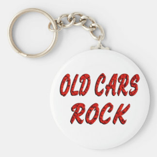 OLD CARS ROCK KEYCHAIN