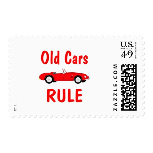 Old Cars Rule Stamp
