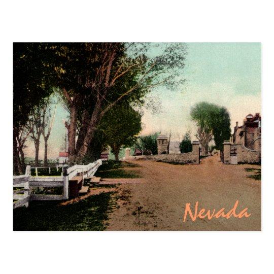 Old Carson City Road Vintage Postcard