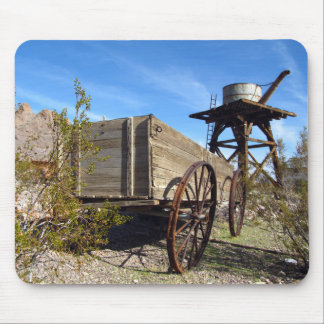 Old Cart and Water Tower Mouse Pad