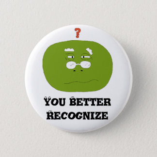 Old Cartoon Turtle With Glasses Pinback Button