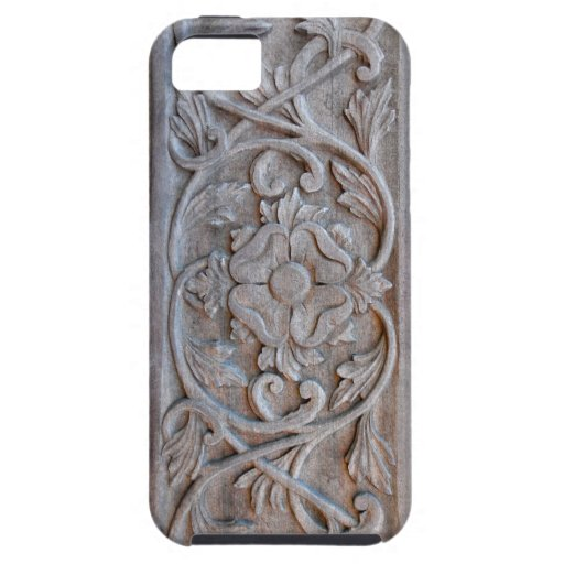 Old Carved Wood Door Scrollwork iPhone 5 Case