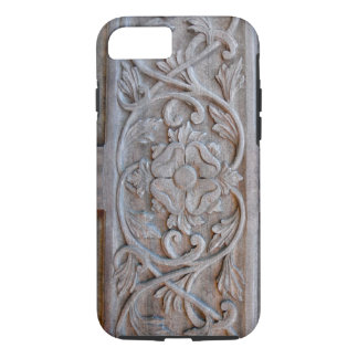 Old Carved Wood Door Scrollwork iPhone 7 Case