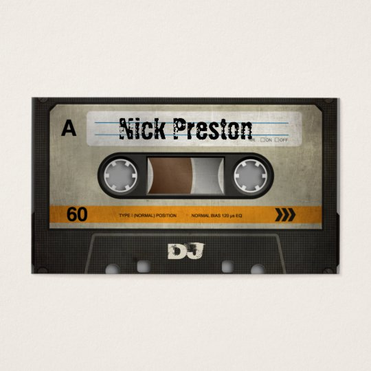 Old Cassette DJ Business Card