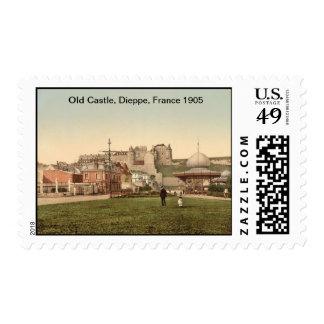 Old Castle, Dieppe, France 1905 Postage