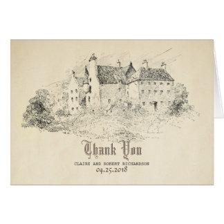 Old Castle Fairy Tale Wedding Thank You Card