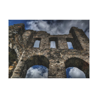 Old castle ruins stretched canvas prints