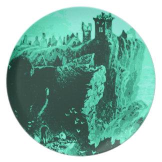 Old Castle Ruins Dinner Plate