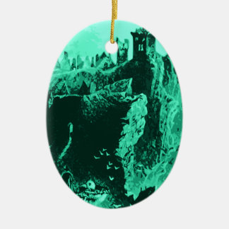 Old Castle Ruins Christmas Tree Ornament