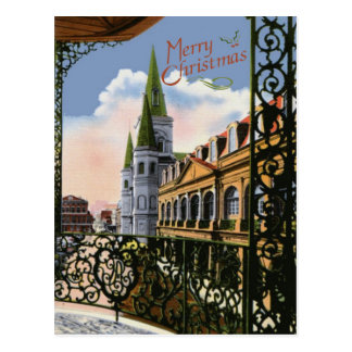 Old Cathedral  Christmas Postcard