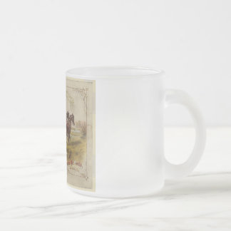 Old Ceifador with pair of horses Frosted Glass Coffee Mug