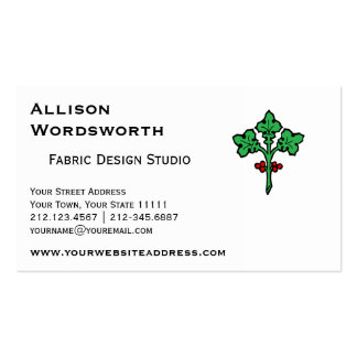 Old Celtic Holly Branch Symbol Double-Sided Standard Business Cards (Pack Of 100)